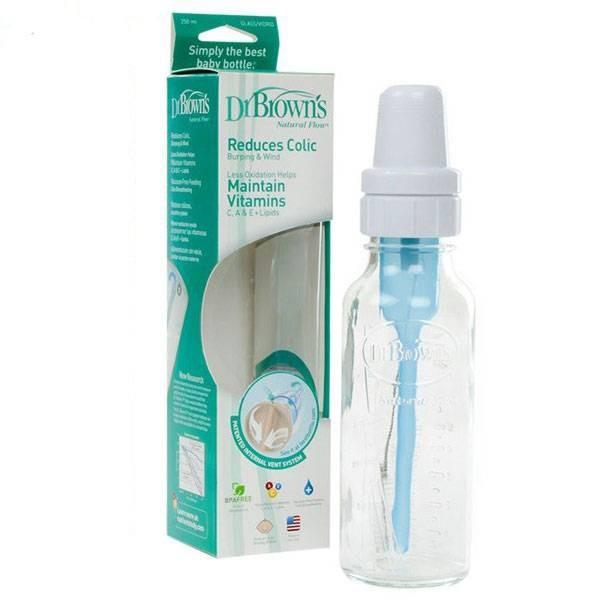 شیشه شیر پیرکس 250 میل نوزاد Dr Brown's