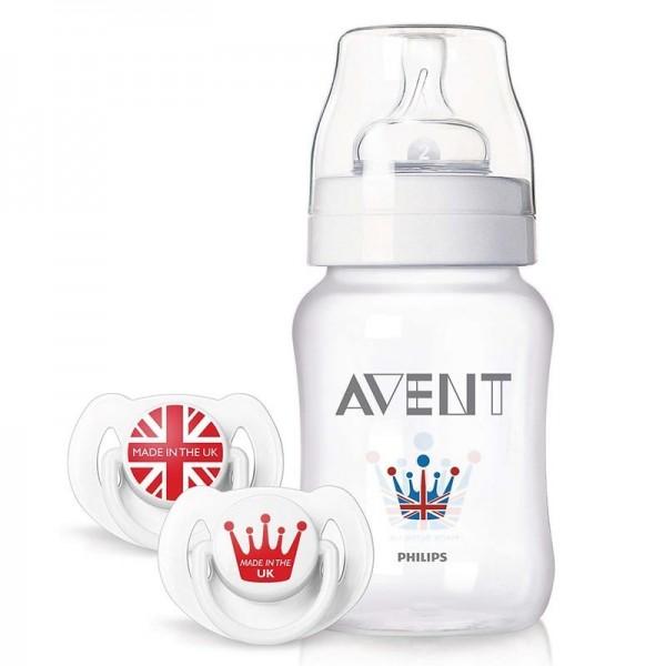 ست شیشه شیر وپستانک نوزادی مدل ملکه اونت Avent