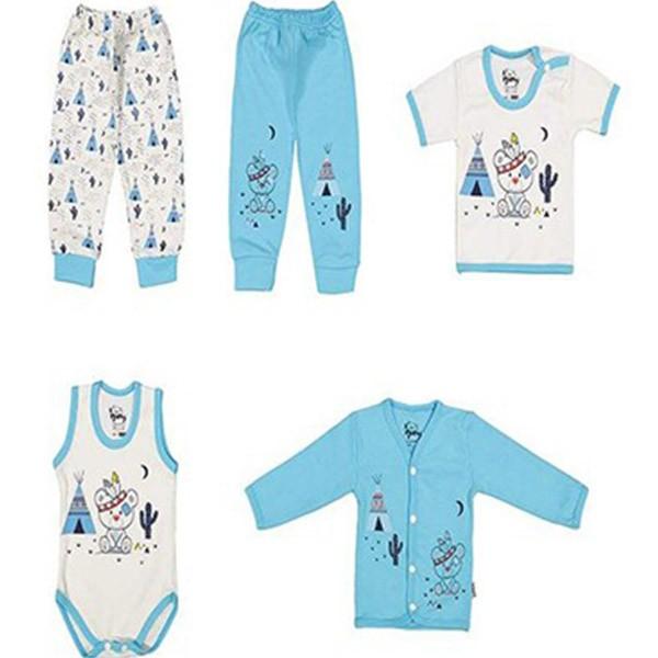 ست 5 تکه لباس نوزادی کارامیل